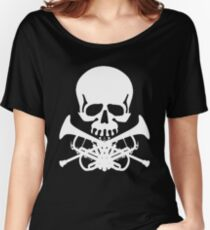 Skull with Trumpet Crossbones Women's Relaxed Fit T-Shirt