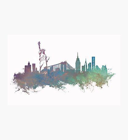 New York City skyline green Photographic Print