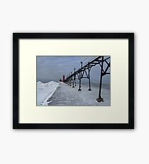 Grand Haven Ice Framed Print
