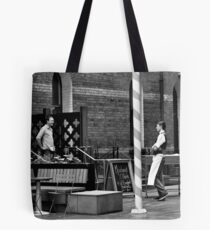 stand off merchant Tote Bag