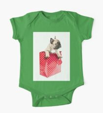 Gift Wrapped Frenchie One Piece - Short Sleeve
