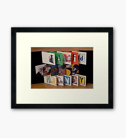 David Hockney - Artist's Book Framed Print