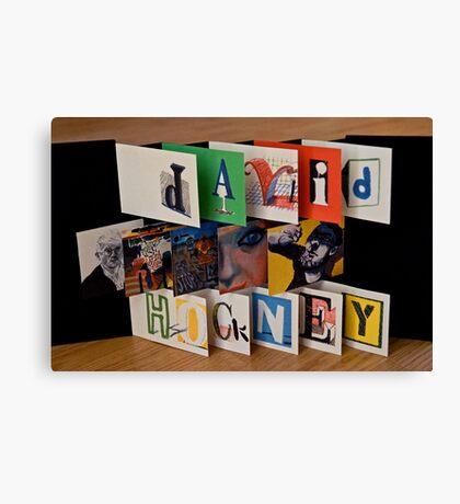 David Hockney - Artist's Book Canvas Print