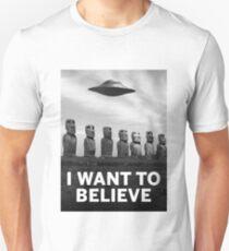 Want2Believe (Moai) Unisex T-Shirt