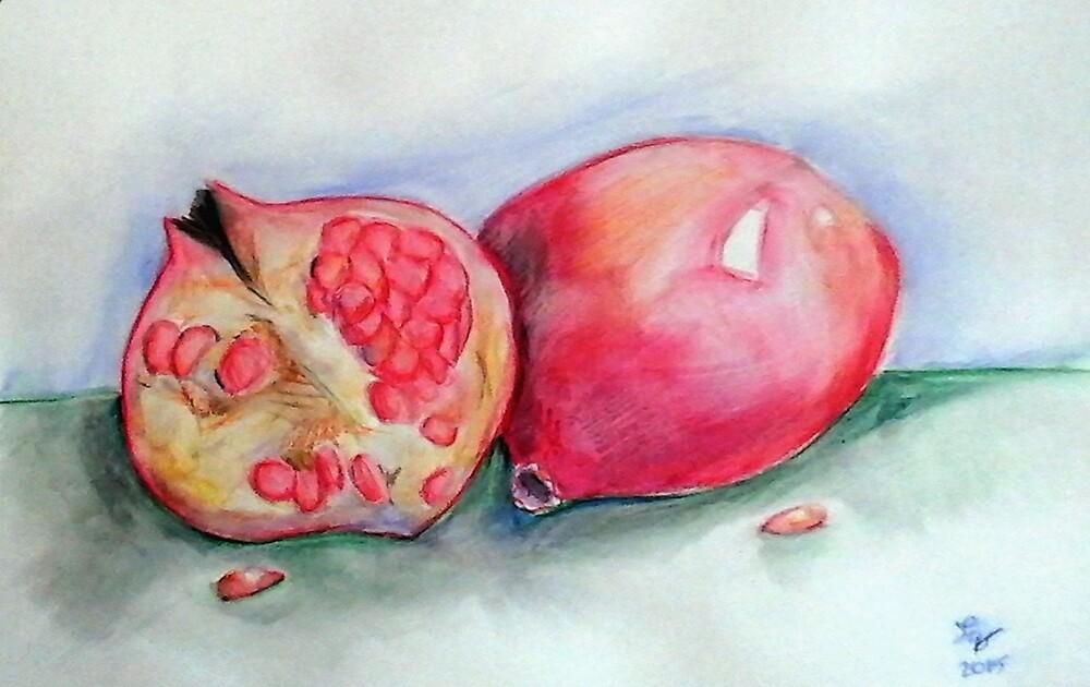 Pomegranates by Loretta Nash