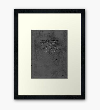 Get Real – Be Rational VRS2 Framed Print