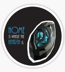 home is where the hearth is. Sticker