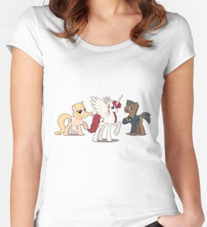 Mane Three Women's Fitted Scoop T-Shirt