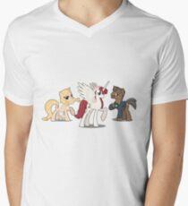 Mane Three Men's V-Neck T-Shirt
