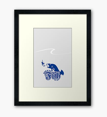 Born to Fish VRS2 Framed Print
