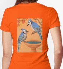 Blue Jays In Fall Womens Fitted T-Shirt