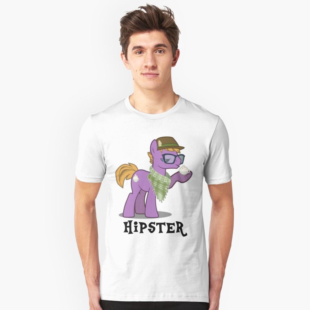 Hipster Guy Unisex T-Shirt Front