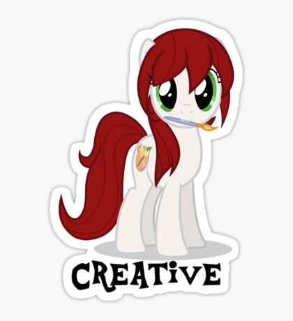 Creative Girl Sticker