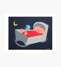 Midnight visit.  Art Print
