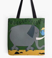 Elephants and Hunters Tote Bag
