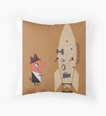 V2 Rocket Guy Throw Pillow