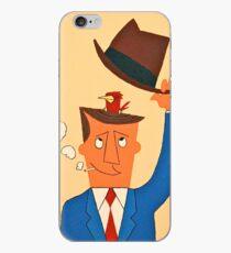 Ode the Mad Men. Bird under the Hat. iPhone Case