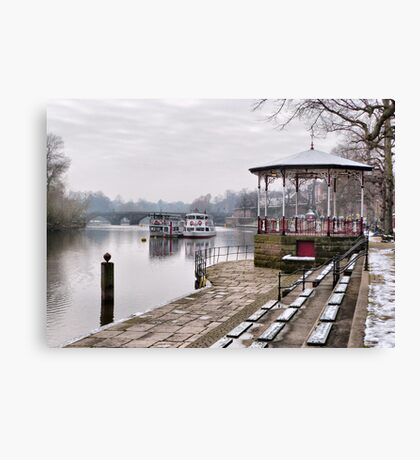 The Bandstand -Chester. Canvas Print