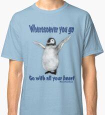 Penquin Confucius Inspirational Quote Classic T-Shirt