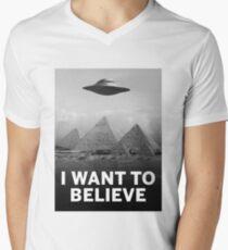 Want2Believe (Giza) Men's V-Neck T-Shirt