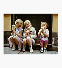 Ice Cream time, 1980s Photographic Print
