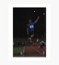 Adelaide Track Classic 2013 - Long Jump 2 Art Print