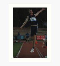 Adelaide Track Classic 2013 - Long Jump 4 Art Print