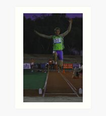 Adelaide Track Classic 2013 - Long Jump 6 Art Print