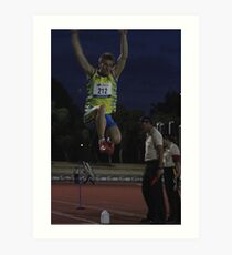 Adelaide Track Classic 2013 - Long Jump 13 Art Print