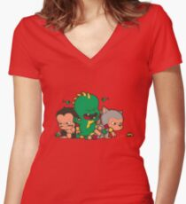 Toddlers Rampage Women's Fitted V-Neck T-Shirt