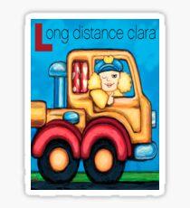 Long Distance Clara Sticker