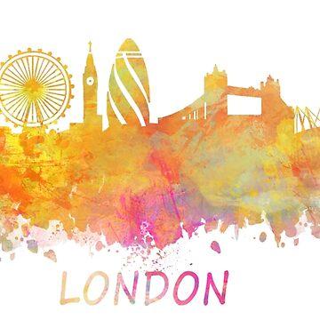 London Skyline pastel by JBJart