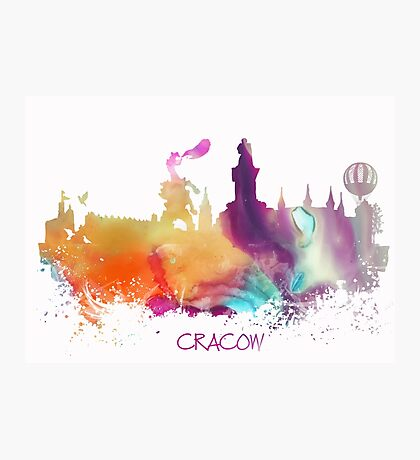 Cracow Poland skyline Photographic Print