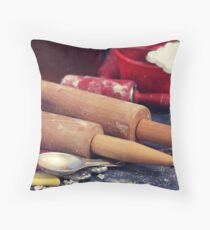Cookie Making Tools Throw Pillow