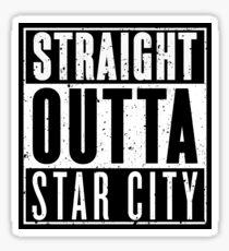 Straight Outta Star City Sticker