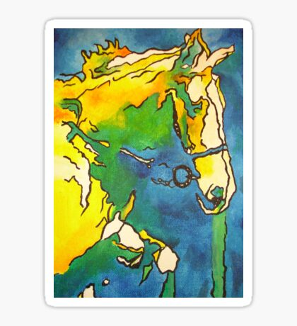 Horse and Bridle Sticker