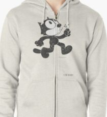 Felix The Cat Zipped Hoodie