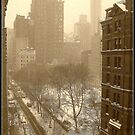 Gramercy Park in snow by Danny  Daly