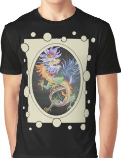 Chinese Dragon With Decorative Border Graphic T-Shirt