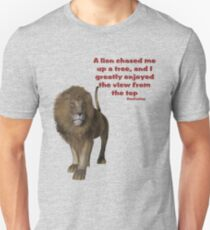 Lion Inspirational Confucius Quote Unisex T-Shirt