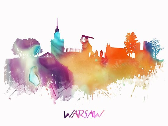 Warsaw Poland skyline by JBJart