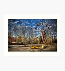 Prypiat/Chernobyl Abandoned Ferris Wheel Art Print