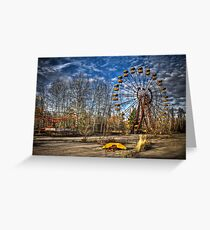 Prypiat/Chernobyl Abandoned Ferris Wheel Greeting Card