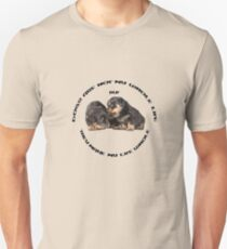 Dogs Make My Life Whole With Cute Rottweiler Puppies Unisex T-Shirt