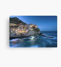 Moon over Manarola - the Cinque Terre Canvas Print