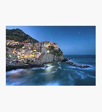 Moon over Manarola - the Cinque Terre Photographic Print