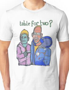 Table for two Unisex T-Shirt