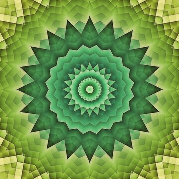 Mandala Green Life by JBJart