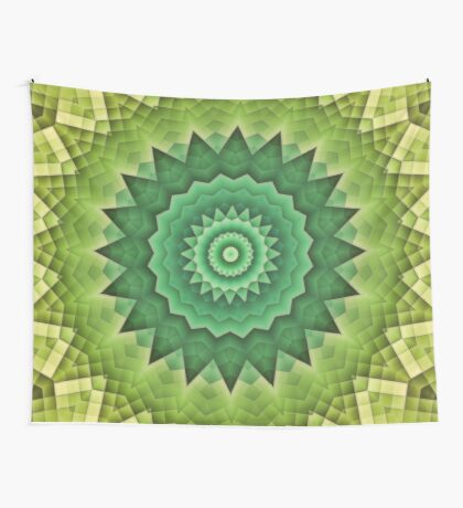 Mandala Green Life Wall Tapestry