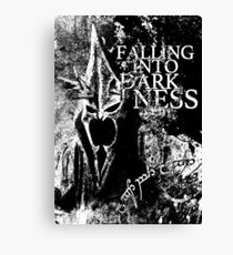 Falling into Darkness Canvas Print
